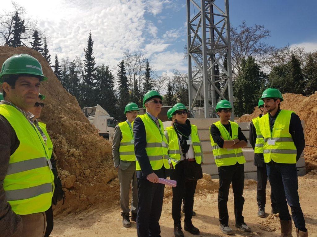 Visite du chantier GSU La Fontaine
